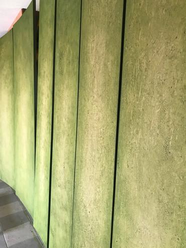 Lehmplatten als Wandelemente...Schnappschuss aus der Werkstatt