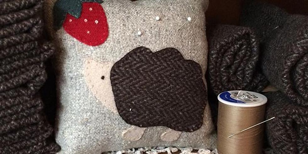 Hedgehog Wool Applique Workshop