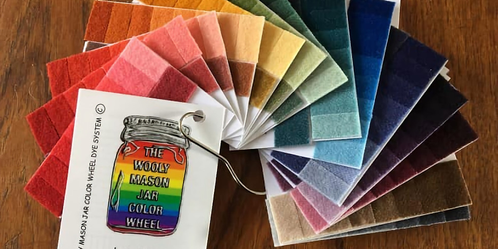 Rescheduling-Wooly Mason Jar Dyeing Workshop with Lucy Richard