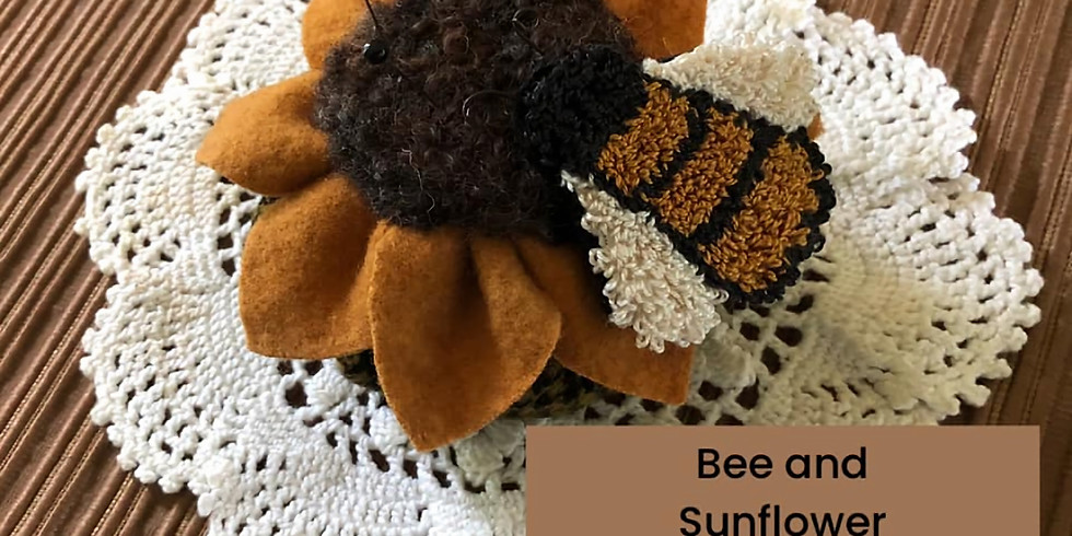 Sunflower and Bee Pincushion