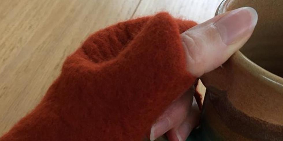 Wet Felted Fingerless Gloves with Chris Pellerin