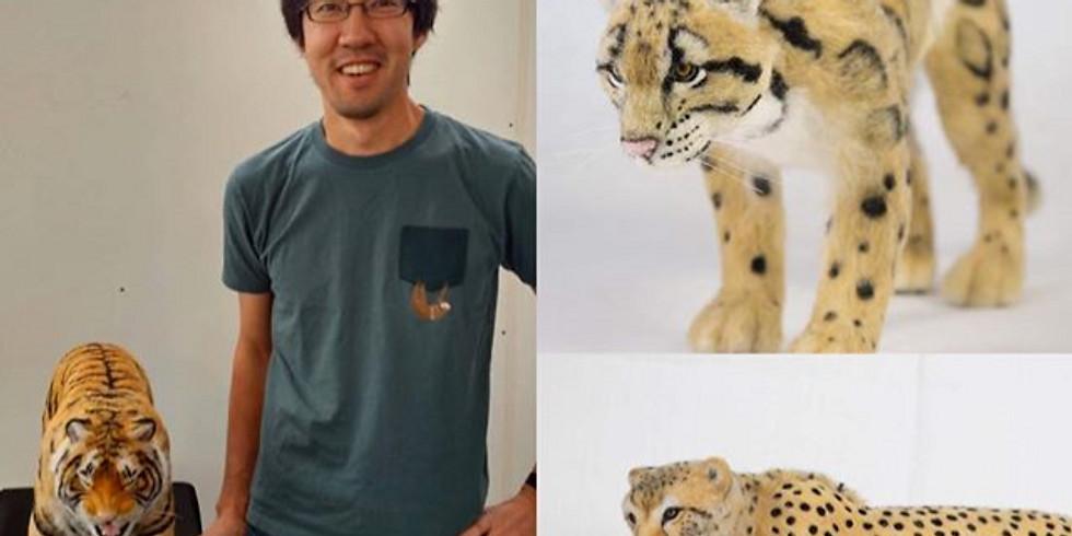 NEW 2022 dates- Kiyoshi Mino Needle Felted Cat Workshop (Tiger)