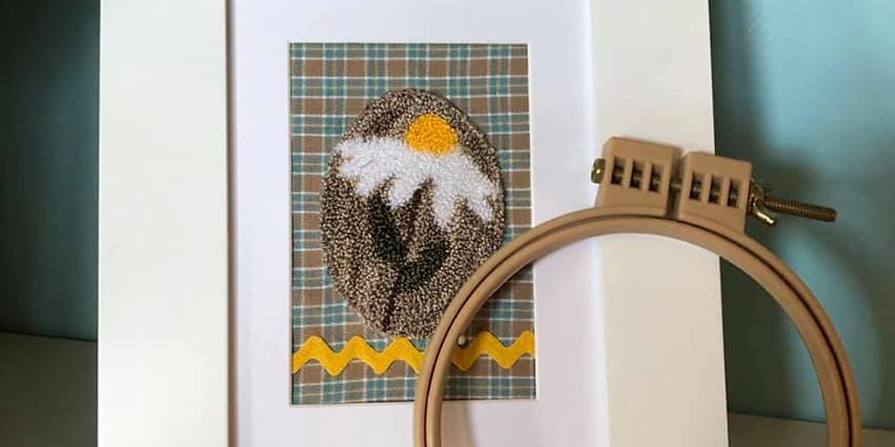 Daisy Miniature Punch Needle Class