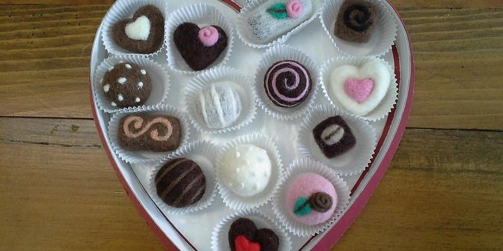 Needle Felted Chocolates