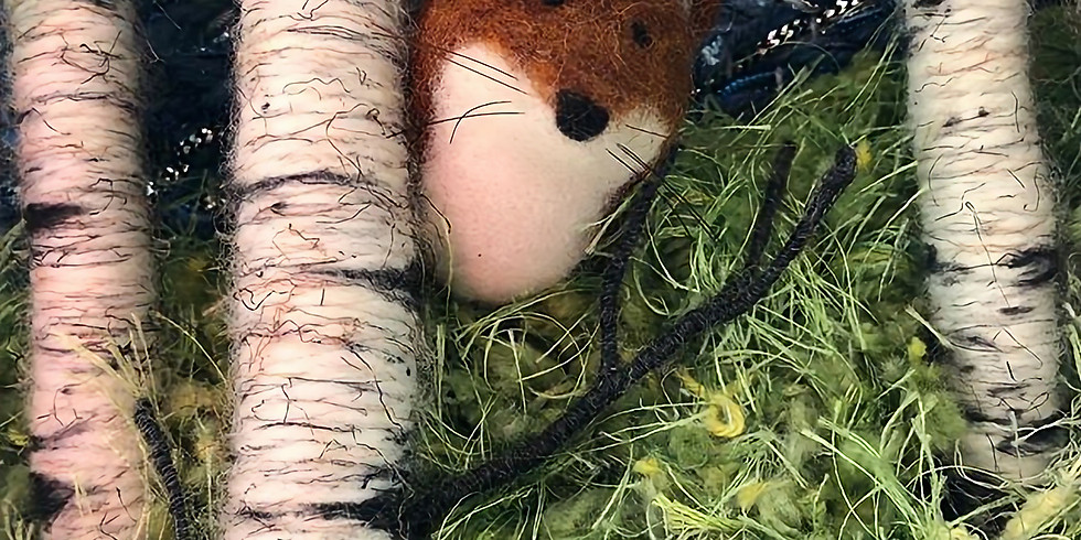 Needle Felted Fox Ornament