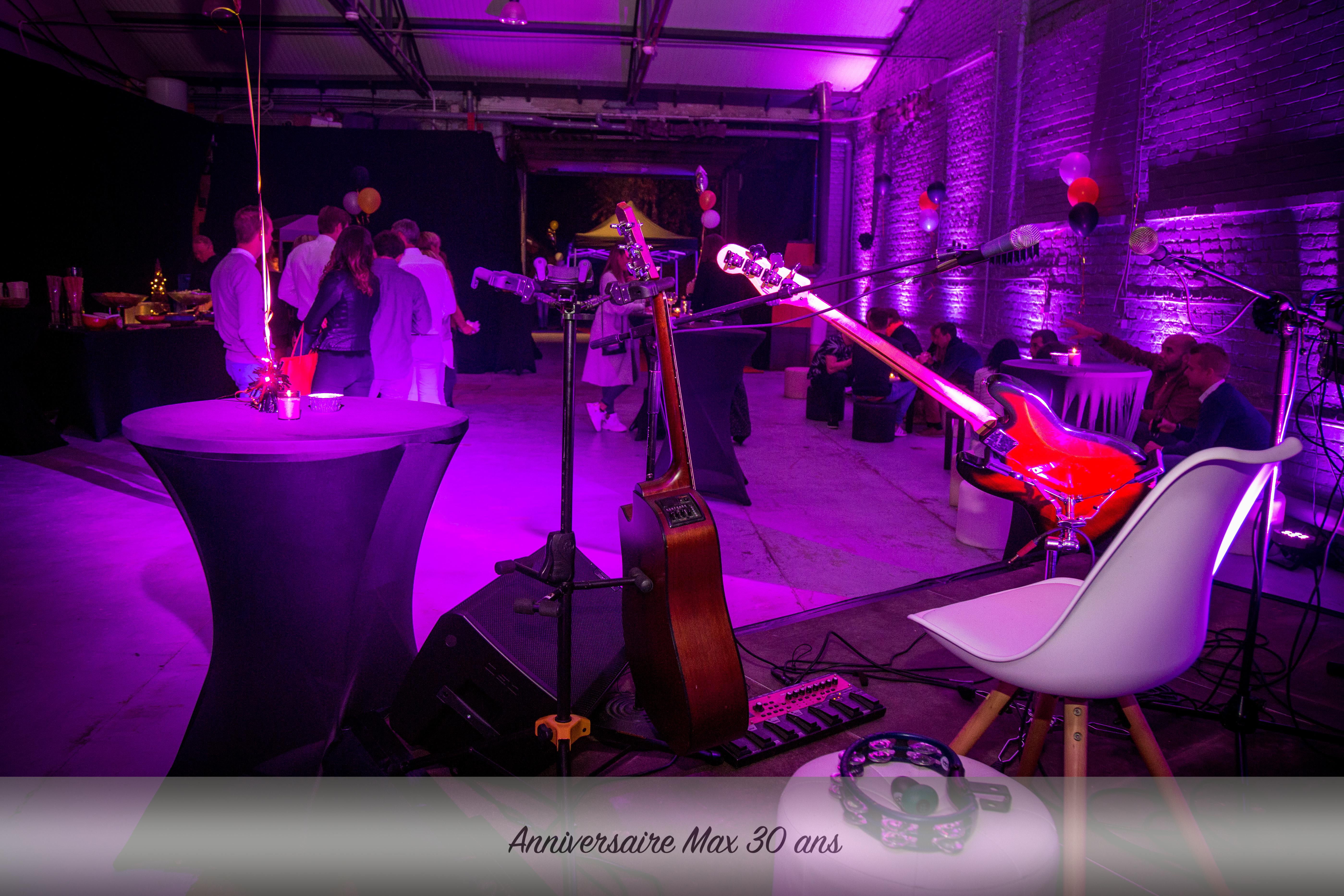 Concert privé, gestion anniversaire