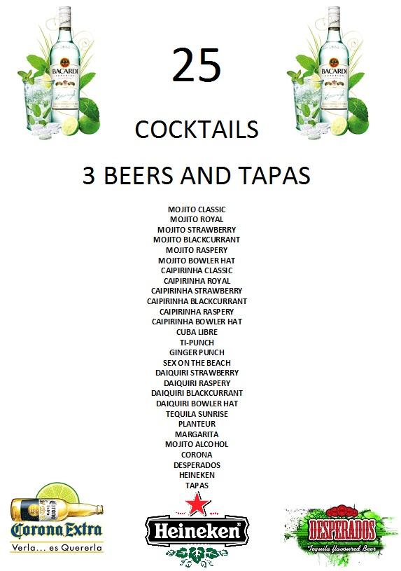 création de cartes de cocktails