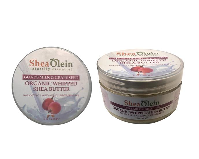 Shea Olein Goat's & Grape Seed Organic WHIPPED Shea Butter