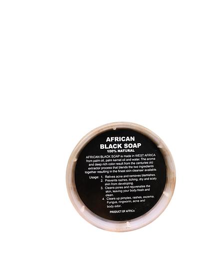 100% Natural African Black Soap