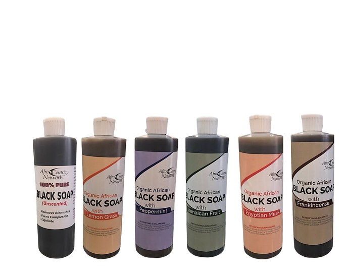 100% Pure Black Liquid Soap by AfroCentric Network