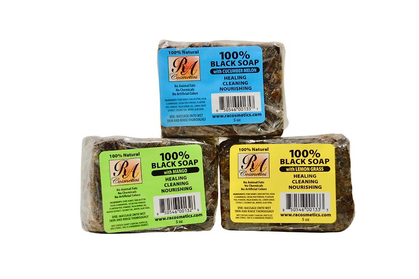 RA COSMETICS Natural 100% Black Soap