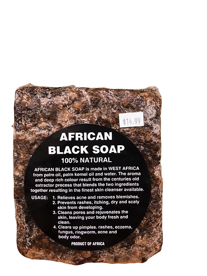 Nature's Gift 100% Natural Black Soap Bar