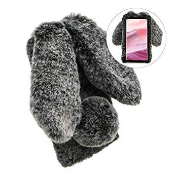 Coque téléphone lapin gris