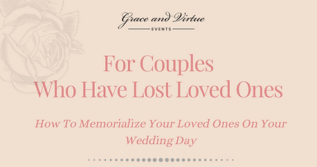 Memorializing Loved Ones At Weddings Inf