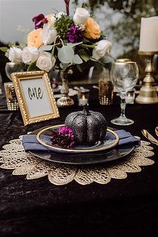 Black Velvet Linen And Decor For An All Black Wedding