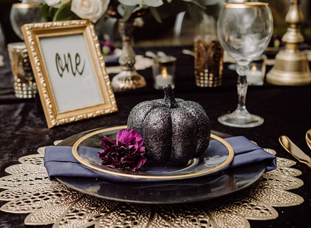 Black Velvet Romance Styled Shoot