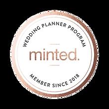 Minted Wedding Planner Program Logo