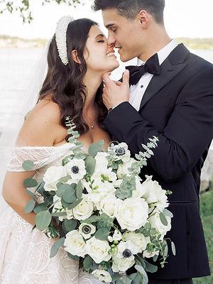 alexandria virginia wedding - bride, groom, bouquet