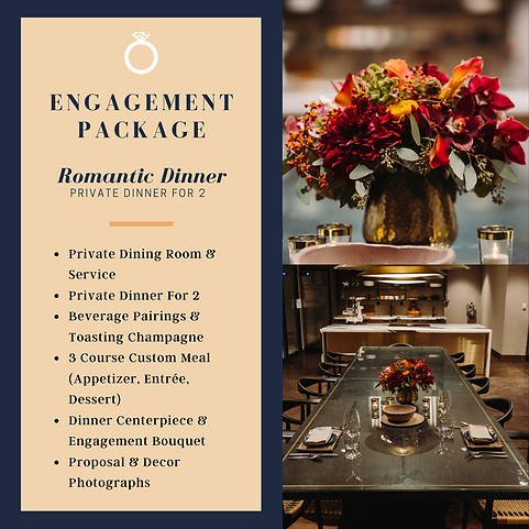 Engagement package - Private Dinner