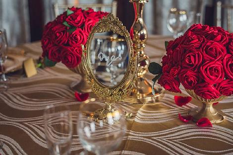 Red & Gold Wedding Decor