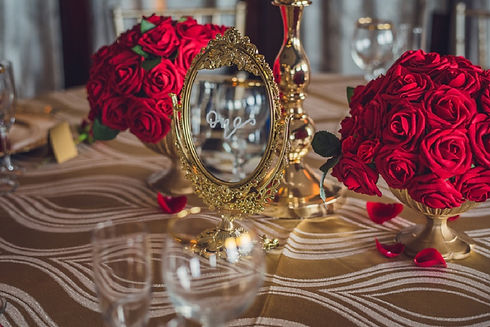 Red & Gold Wedding Decor