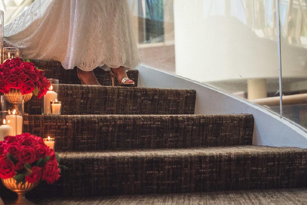 Spiral Staircase Wedding Decor
