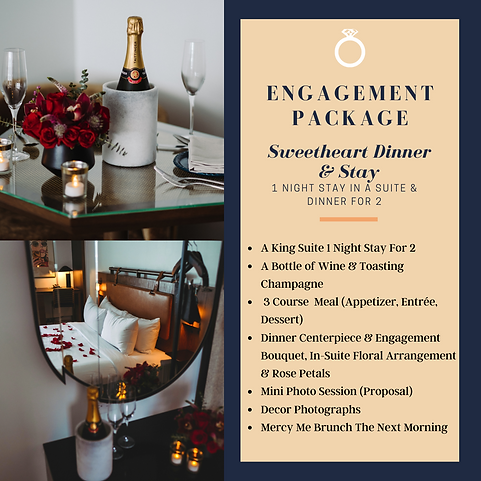 Engagement package - Dinner & Suite