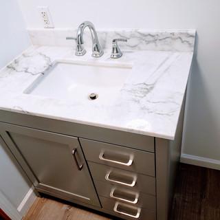 Bathroom vanity installtion bathroom remodel