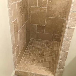Natural stone bathroom remodel
