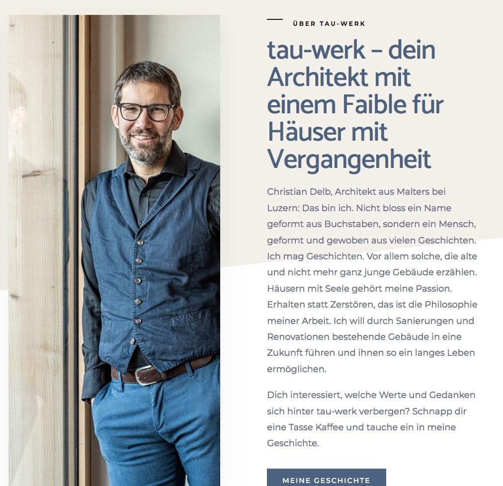 Webtexte für tau-werk