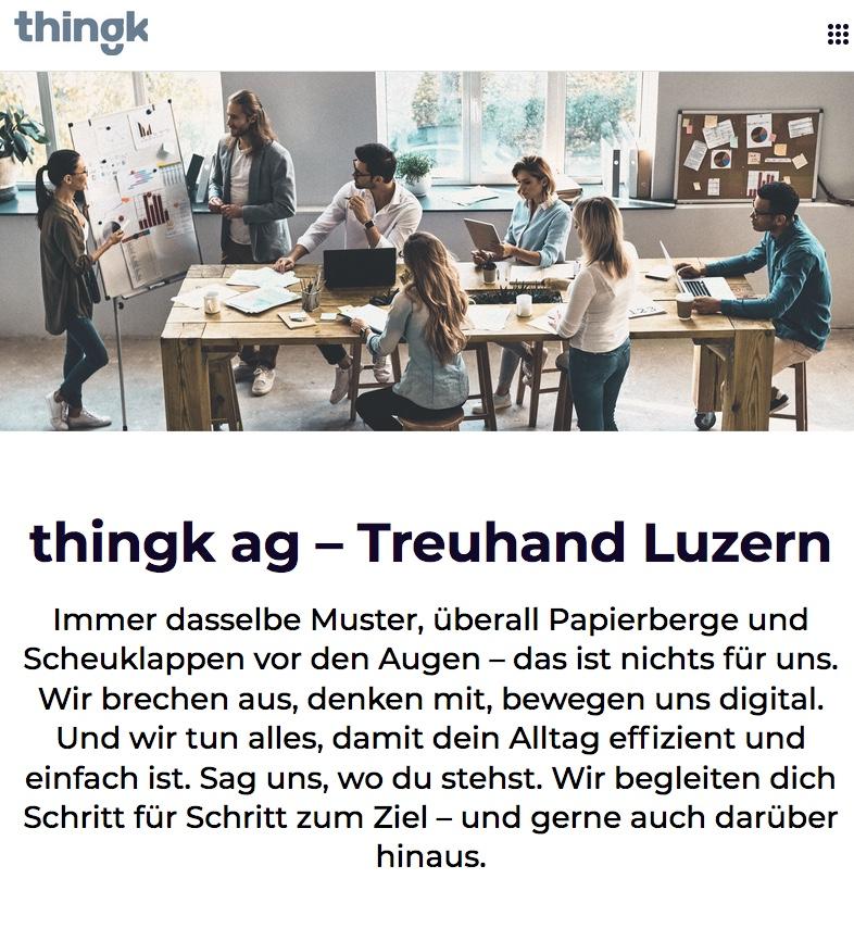 Website thingk ag