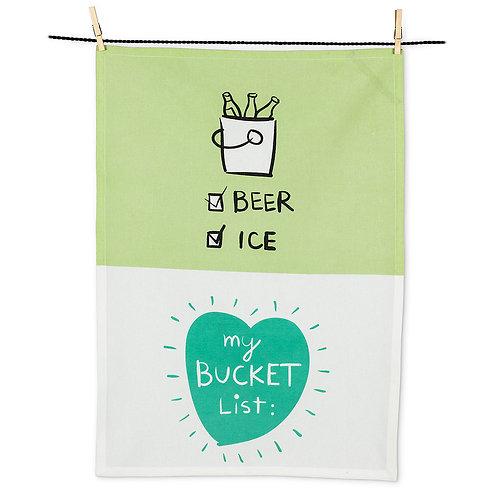 Bucket List Tea Towel