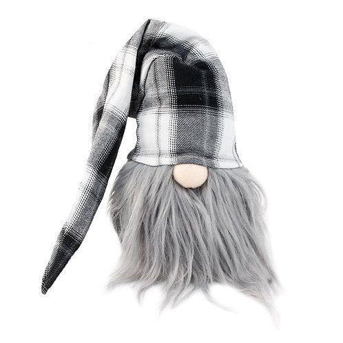 Grey Plaid Gnome