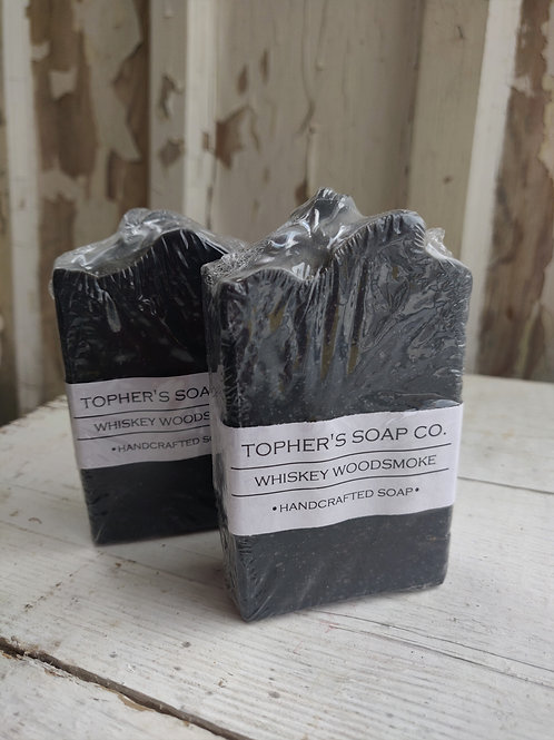 Whiskey and Woodsmoke Bar of Soap