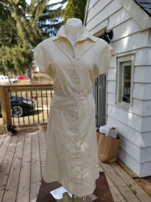 Light Yellow vintage Dress - Union Made