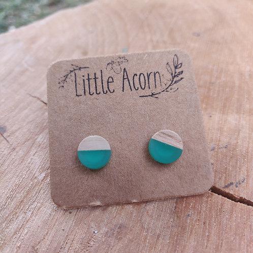epoxy and wood earrings