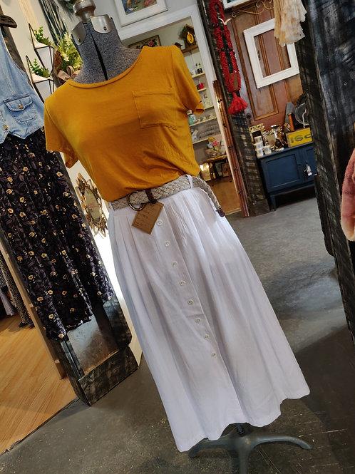 white flow skirt