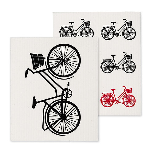 Bicycle Dish Cloths. Set of 2