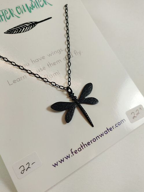 Feather On Water - necklace