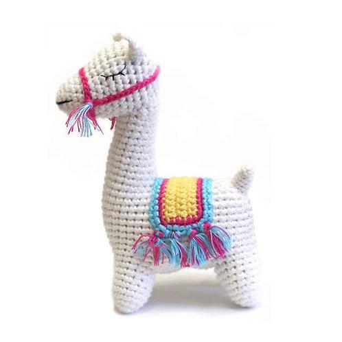 Llama Crocheted Rattle