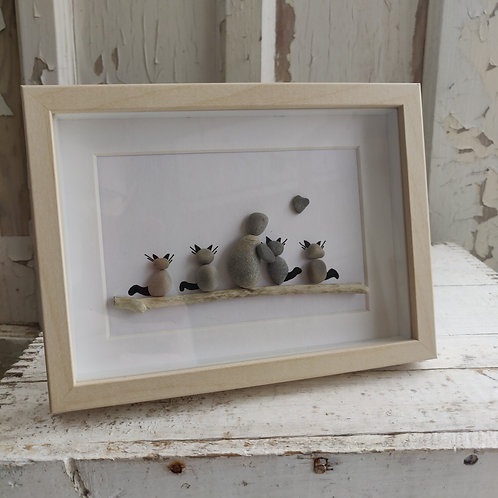 kitty love - Pebble Art