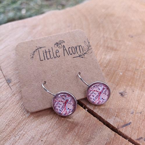dangle earrings London Map