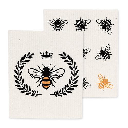 Set of two Bee Swedish Dishclothes
