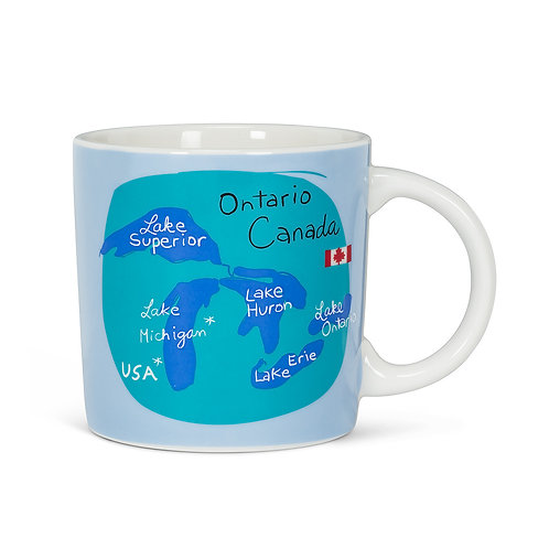 Graphic Great Lakes Mug