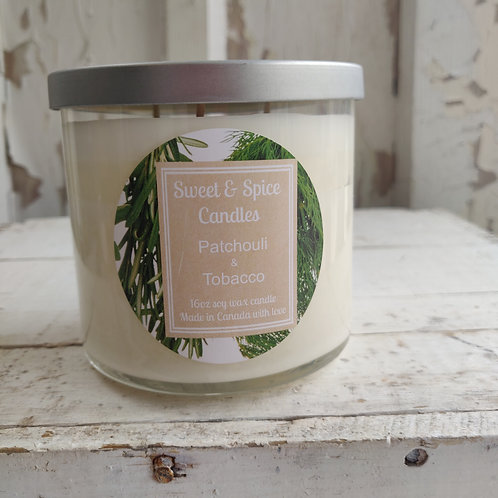 Patchouli & Tobacco Candle