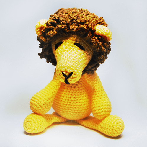 Stuffed Crocheted Lion