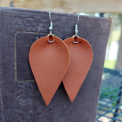Dangle Faux Leather Earrings