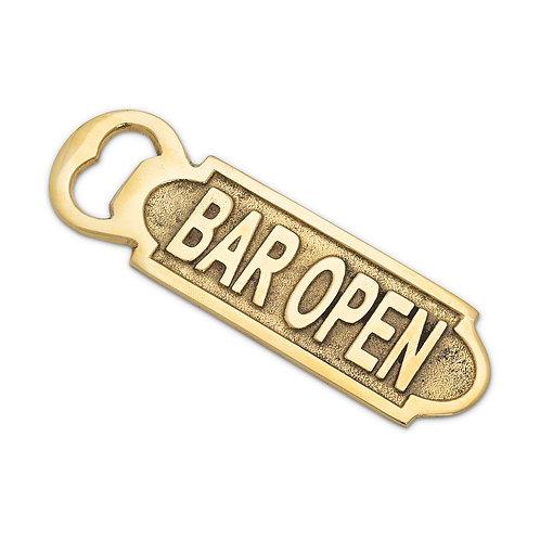 "Flat ""Bar Open"" Bottle Opener"