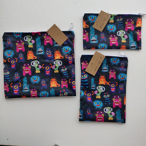 set of three reusable bags
