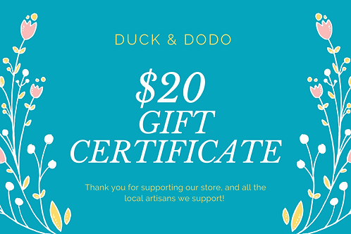 Gift Certificate -20$